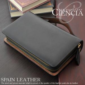 クラッチバッグ レザー メンズ 本革 セカンドバッグ ラウンドファスナー スペインレザー ダブルファスナー ハンドバッグ|asianarts
