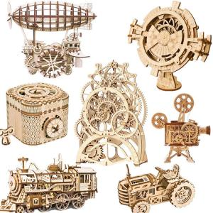 DIY木製3Dパズル 立体パズル パズル手作り 木製 クラフト キット おもちゃ人気 組み立て簡単 ...