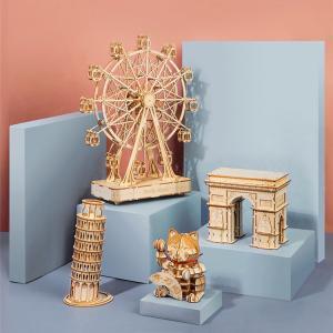 立体パズル 木製 レーザー仕上 DIY クラフト 子供 プレゼント 玩具