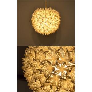 (送料無料) ペンダントライト 貝殻 シェル スノーホワイト ボールランプ アジアンランプ φ32cm LAM-0399 asianlamp-cahaya 03