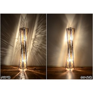 送料無料 フロアスタンドライト シェルタワーツイスト フロアアジアンランプ (貝殻×ラタン) 150cm LAM-0419|asianlamp-cahaya|04