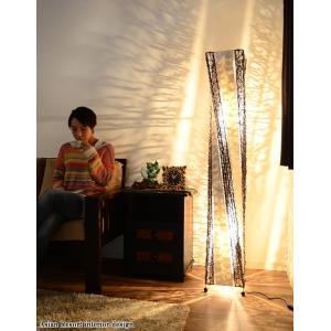 送料無料 フロアスタンドライト シェルタワーツイスト フロアアジアンランプ (貝殻×ラタン) 150cm LAM-0419|asianlamp-cahaya|06