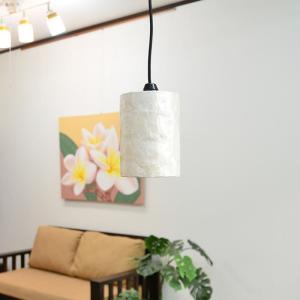 ペンダントライト 吊り下げアジアンランプ LAM-0431 シェル円柱|asianlamp-cahaya|04
