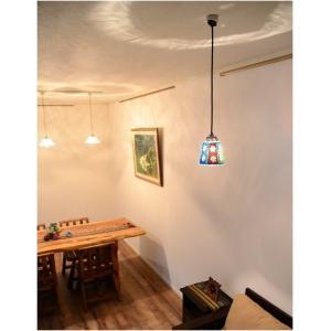 アジアン照明 ペンダントライト モザイク ガラスアート フラワーベル LAM-0450 送料無料 吊り下げ照明 LED対応|asianlamp-cahaya|02