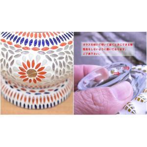 アジアン照明 ペンダントライト モザイク ガラスアート フラワーベル LAM-0450 送料無料 吊り下げ照明 LED対応|asianlamp-cahaya|04