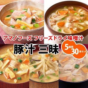 アマノフーズ フリーズドライ味噌汁 豚汁 三昧 5種類30食セット