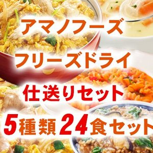 アマノフーズ フリーズドライ食品 仕送りセット5種24食詰め合わせセット