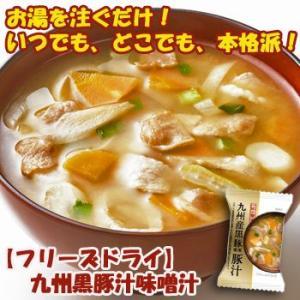 フリーズドライ 味噌汁 九州黒豚使用 豚汁 10.5g×10食セット(一杯の贅沢シリーズ)|asianlife