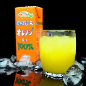 (紙パック ジュース) 濃縮還元オレンジ果汁100%ジュース 200mlX12本セット(ソフトドリンク・清涼飲料水)|asianlife