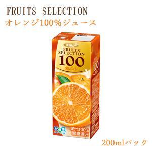 (紙パック ジュース) フルーツセレクション オレンジ100%ジュース200mlX12本セット (ソフトドリンク・濃縮還元)|asianlife