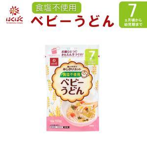 はくばく ベビーうどん 100g  食塩不使用 乳児用規格適用食品 離乳食、ベビーフード うどん 麺類|asianlife