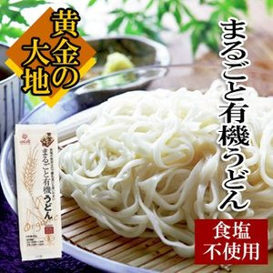 はくばく 黄金の大地 まるごと有機うどん 乾麺 食塩不使用 270g(3食分)