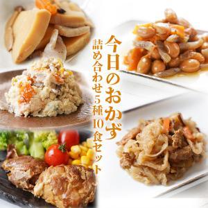 無添加レトルト惣菜 今日のおかず 詰め合わせ5種10食セット 内野屋 常温保存 レンジ調理|asianlife