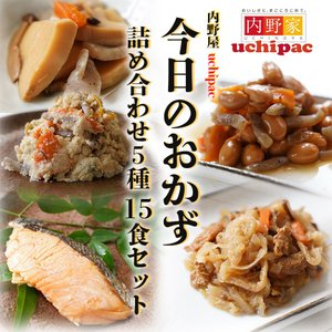 無添加レトルト惣菜 今日のおかず 詰め合わせ5種15食セット 内野屋 常温保存 レンジ調理|asianlife