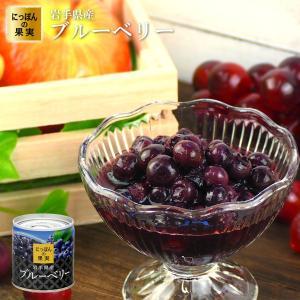 缶詰 にっぽんの果実 岩手県産 ブルーベリー 185g(2号缶) フルーツ 国産 国分 K&K