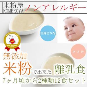 無添加 米粉の離乳食7ヶ月頃から2種12食セット ノンアレル ギー ベビーフード アレルゲン 中期|asianlife