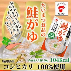 鮭がゆ250g (たいまつ食品) 低カロリー 健康志向のレトルト食品 おかゆ 新潟県産こしひかり|asianlife