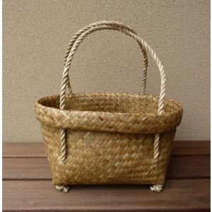 【NEW】タイの水草カゴバッグM|asianmable