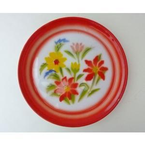 【NEW】タイのお花柄ホーロートレーS2|asianmable
