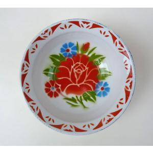 【NEW】タイのお花柄ホーロー器−お花レトロ|asianmable