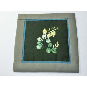 8f92fec439 手刺繍コースター 座布団型O 高級 手刺繍 和風柄 和柄 上品 ベトナム コットン 綿 花柄 フランス刺繍