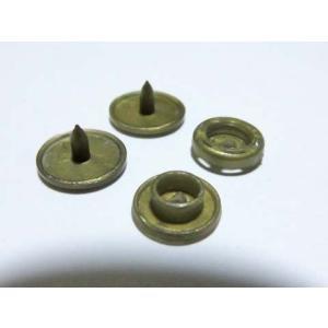 プラスチック スナップボタン 1組 12mmアンティークゴールド(ハンディプレス専用)
