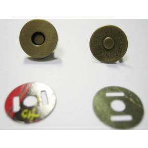 マグネットホック アンティークゴールド 14mm 1.4cm 簡単 手芸用品 100均 バッグ 便利 手芸 パーツ マグネット ホック 金具 マグネットボタン ボタン