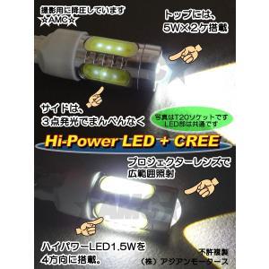 AMC H11フォグランプ等に 16W強力LEDバルブ=CREE広範囲プロジェクター5W×2+側面6WハイパワーLED球 白 2個 AMC|asianmotors|03