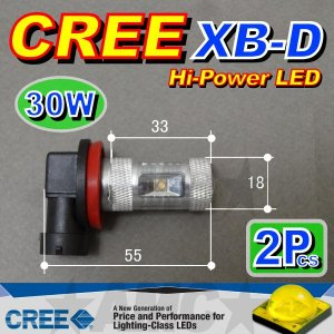 AMC H11 LEDフォグランプ CREE 30W 2個入 XB-D搭載で明るいLED球 AMC|asianmotors|02