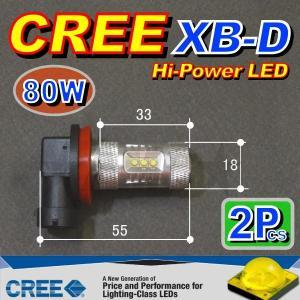 AMC H11 LEDフォグランプ CREE製 超強力80W 2個入 XB-D搭載で明るいLED球 AMC|asianmotors|02