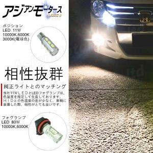 フェアレディZ Z34 Z33 Z32 Z31 LED ポジションランプ 11W 2個 クールホワイト 白 10000K T10 T16 バックランプ AMC 【メール便(ネコポス)は送料無料】yys asianmotors 03