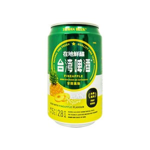 【商品名】台湾ビールフルーツシリーズ パイナップル甘甜鳳梨330ml(缶) 【原材料】麦芽、ホップ、...