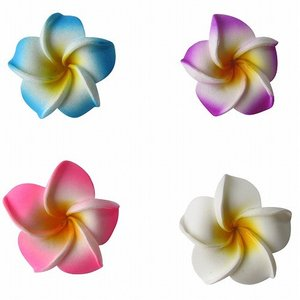 プルメリアの造花 ウレタン製 4.5cm  フローティングフラワー ピンク ホワイト ブルー パープ...