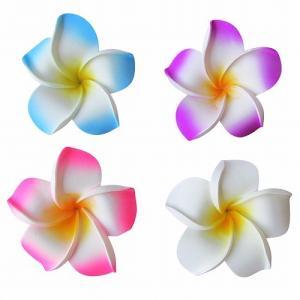 プルメリアの造花 ウレタン製12cm ピンク ホワイト ブルー パープル|asiantique