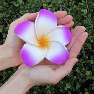 プルメリアの造花 ウレタン製12cm ピンク ホワイト ブルー パープル|asiantique|02