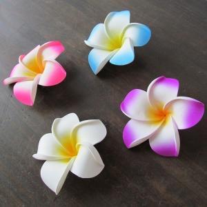 プルメリアの造花 ウレタン製12cm ピンク ホワイト ブルー パープル|asiantique|03