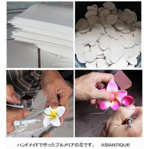 プルメリアの造花 ウレタン製12cm ピンク ホワイト ブルー パープル|asiantique|05