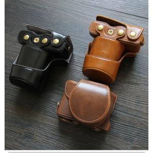 レザーカメラケース CANON EOS M100 M10 M2 M 対応 お揃いカラーのストラップ付き 専用ケースでぴったりフィット|asianzakka|12