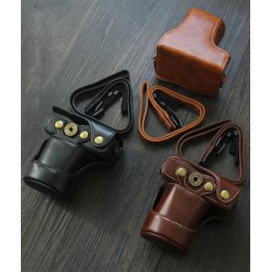レザーカメラケース CANON EOS M100 M10 M2 M 対応 お揃いカラーのストラップ付き 専用ケースでぴったりフィット|asianzakka|10