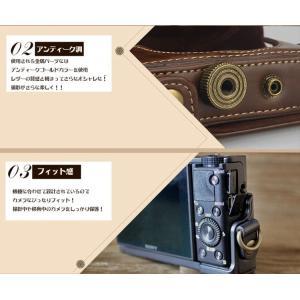 レザーカメラケース Sony RX100シリーズ専用 レザーケース M M2 M3 M4 M5 M6 用 レザージャケット お揃いカラーのストラップ付き asianzakka 03