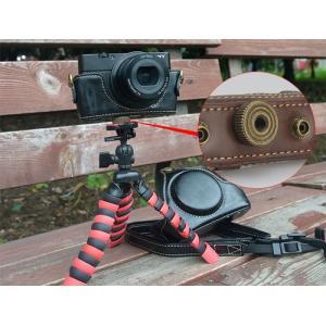 レザーカメラケース Sony RX100シリーズ専用 レザーケース M M2 M3 M4 M5 M6 用 レザージャケット お揃いカラーのストラップ付き asianzakka 05