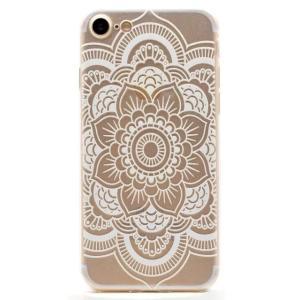 iPhone8 plusケース iPhone7 plusケース クリアレース タトゥー風 Lotus TPUソフトクリアケース ソフトケース ソフトタイプ 蓮 iPhoneケース|asianzakka