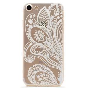 iPhone8 plusケース iPhone7 plusケース クリアレース ペイズリー風 タトゥー TPUソフトクリアケース ソフトケース ソフトタイプ iPhoneケース|asianzakka