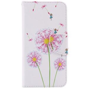 iPhone8 plusケース iPhone7 plus 液晶部分もしっかり保護で安心 手帳型 レザー風ケース ハードケース フラワー ボタニカル カバー  たんぽぽ|asianzakka