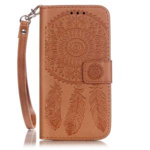 iPhone8 plusケース iPhone7 plus 液晶部分もしっかり保護で安心 手帳型 レザー風ケース インディアン カードポケット&ハンドストラップ付き iPhoneケース|asianzakka