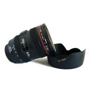 【アイデアグッズ】☆Canon 一眼レフ カメラ レンズ 風 カップ ステンレスタイプ レンズフード型フタ付き☆ レンズカップ / コップ / マグカップ|asianzakka|02