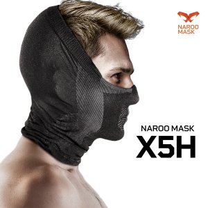 口元から耳、頭頂部分まで覆うハーフバラクラバ(目出し帽)タイプのマスクです。<br> 頭...