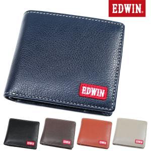 二つ折り財布 メンズ EDWIN エドウィン 牛革 中ベラ付 折りたたみ 通勤 革小物 メンズ 財布 二つ折り 財布  本革 折財布 メンズ 折り財布|askashop