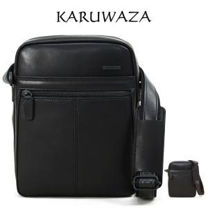 ショルダーバッグ メンズ 日本製 KARUWAZA カルワザ wing2 斜めがけ バッグ 肩掛け 本革 レザー  革  本革 メンズ バッグ 小さめ 海外旅行バッグ askashop