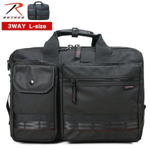 ビジネスバッグ 3way 大容量 リュック B4 Lサイズ マチ拡張 ブリーフケース メンズ ROTHCO ロスコ レッドライン ノートPC対応 撥水 通勤 出張|askashop